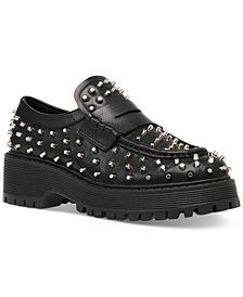 Women's Malvern Studded Lug Sole Loafers