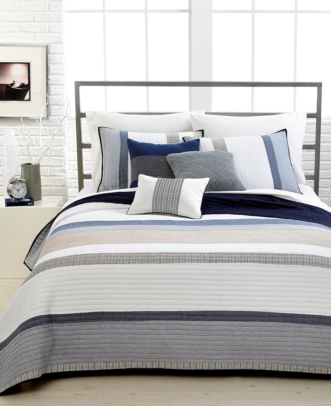 Nautica Bedroom Furniture Nautica Tideway Quilt Collection 100 Cotton Quilts