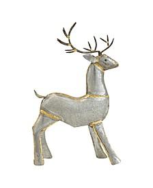 """20"""" Galvanized Metal Reindeer Figurine"""