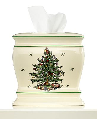 Closeout Spode Bath Accessories Christmas Tree Tissue Holder Bathroom Accessories Bed