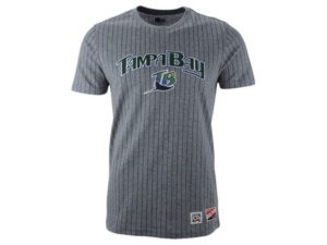 New Era Men's Tampa Bay Rays Pinstripe Crew Top Ii