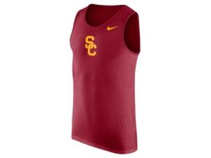 Nike Men's Usc Trojans Dri-fit Cotton Logo Tank