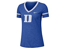 Women's Duke Blue Devils Slub V-Neck T-Shirt