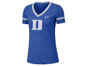 Nike Women's Duke Blue Devils Slub V-Neck T-Shirt