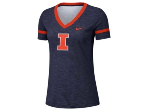 Nike Women's Illinois Fighting Illinois Slub V-neck T-Shirt