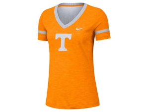 Nike Women's Tennessee Volunteers Slub V-neck T-Shirt