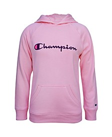 Little Girl Embroidered Champion Raglan Hoodie