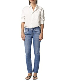Racer Low-Rise Skinny Jeans