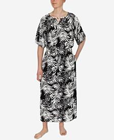 Printed Tie Waist Nightgown