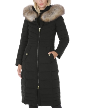 Laundry By Shelli Segal LAUNDRY BY SHELLI SEGAL FAUX-FUR-TRIM HOODED PUFFER COAT, CREATED FOR MACY'S