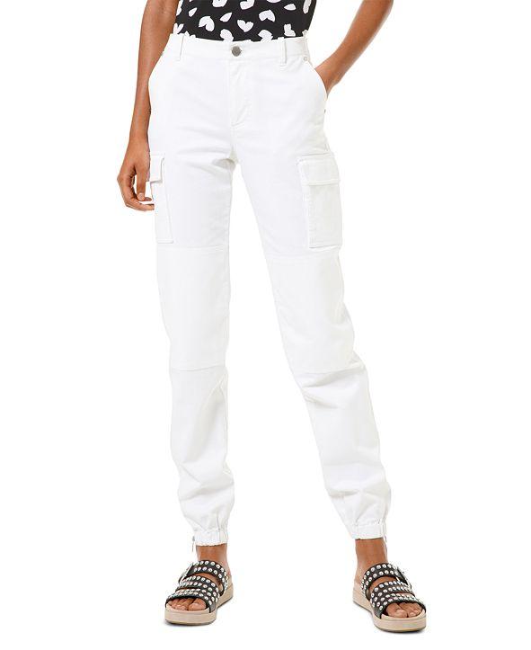 Michael Kors White Cargo Jeans