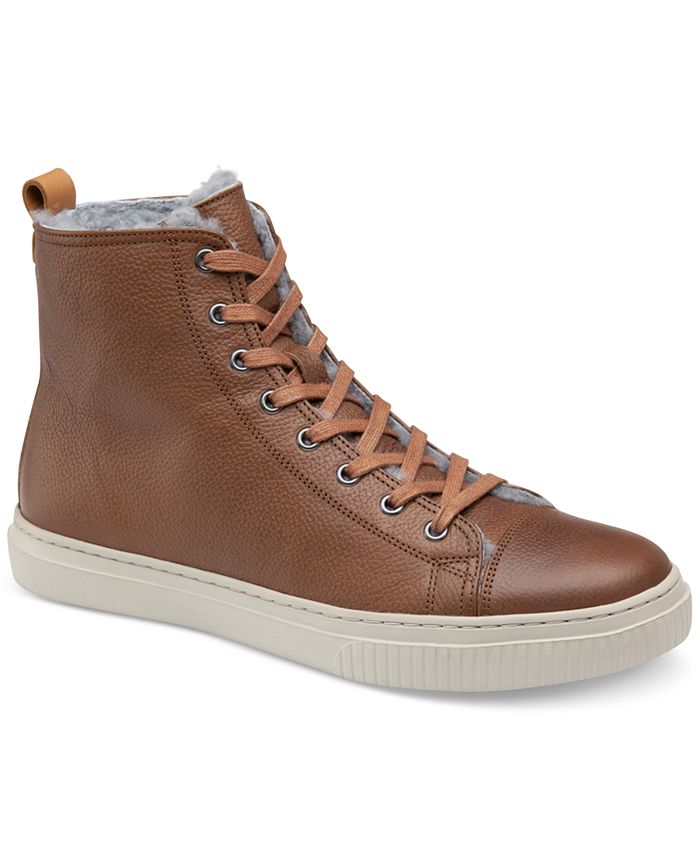 Johnston & Murphy - Men's Toliver Shearling-Lined High-Top Sneakers