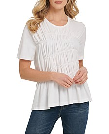 Front-Ruched T-Shirt