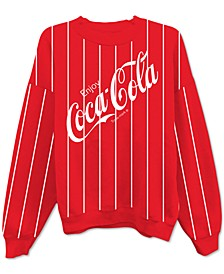 Juniors' Coca-Cola Striped Sweatshirt