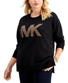 Michael Michael Kors Plus Size Logo Sweatshirt