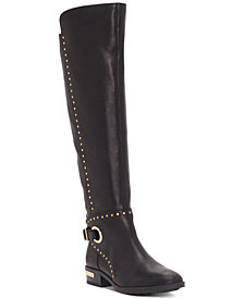 Vince Camuto Women's Poppidal Wide-Calf Stretch Riding Boots