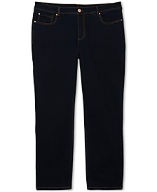 INC Plus Size Straight-Leg Jeans, Created for Macy's