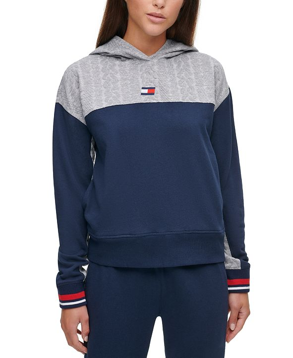 Tommy Hilfiger Cable-Knit Colorblocked Hoodie