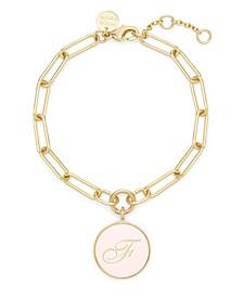 Callie Enamel Initial Gold-Plated Bracelet