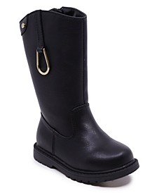 Little Girls Quadri Side Zipper Boot