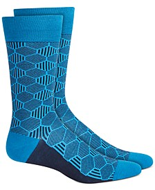 Men's Geo Line Socks, Created for Macy's