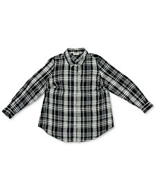 Plus Size Plaid Boyfriend Shirt, Created For Macy's