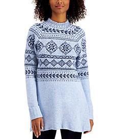 Plus Size Fair Isle Tunic Sweater, Created for Macy's