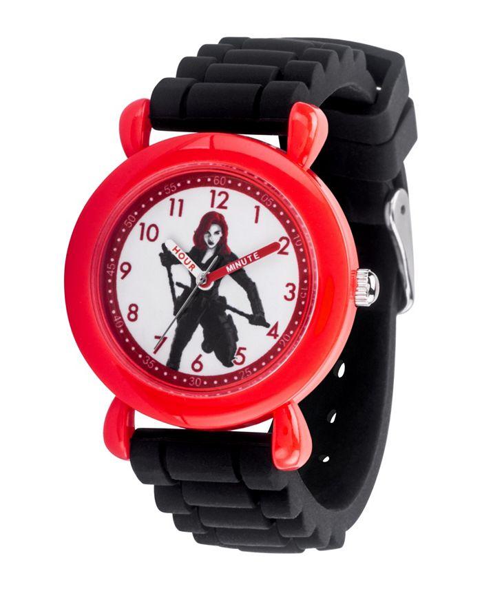 ewatchfactory - Marvel Black Widow Girls' Red Plastic Watch 32mm