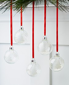 Chalet You Stay Glass Ornaments, Set of 5, Created for Macy's