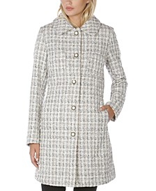 Single-Breasted Tweed Walker Coat