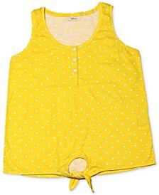 Printed Tie-Hem Top, Created for Macy's