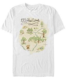 Men's 100 Acre Map Short Sleeve T-Shirt