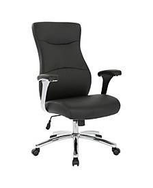 High Back Faux Office Leather Chair