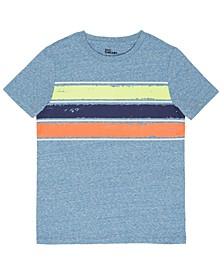Big Boys Short Sleeve Crew Neck Stripe T-Shirt