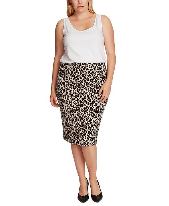 Vince Camuto Plus Size Animal-Print Tube Skirt & Reviews ...