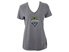Seattle Sounders FC Women's Distressed Logo T-Shirt