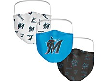 Miami Marlins 3-Pk. Face Mask