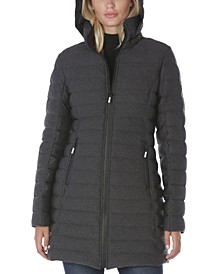 Hooded Stretch Packable Puffer Coat