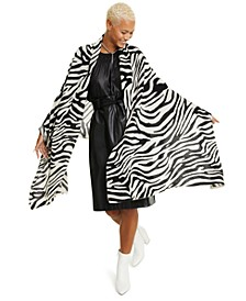 Zebra-Print Cashmere Scarf, Created for Macy's