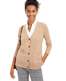 Cashmere Boyfriend Cardigan, Regular & Petite Sizes, Created for Macy's
