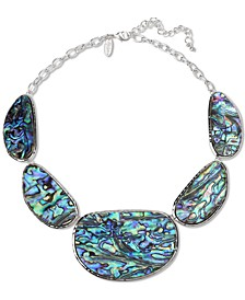 "Silver-Tone Stone Circle Statement Necklace, 18"" + 3"" extender, Created for Macy's"