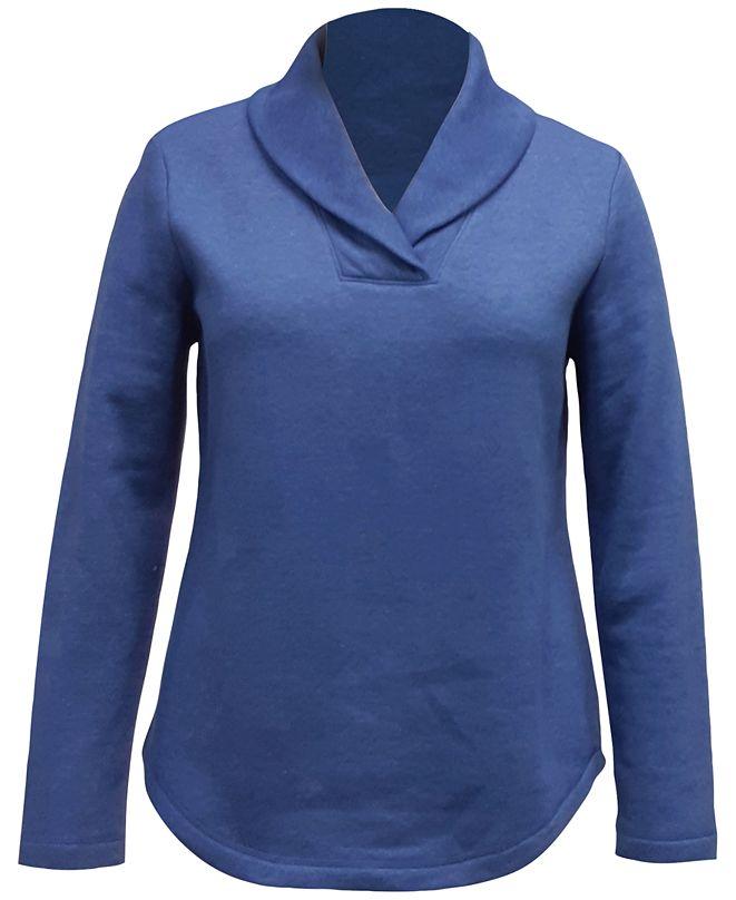 Karen Scott Shawl Collar Fleece Top, Created for Macy's