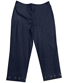 Grommet-Trimmed Tummy-Control Capri Pants, Created For Macy's