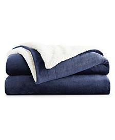 """108"""" x 90"""" Fleece and Sherpa Blanket"""