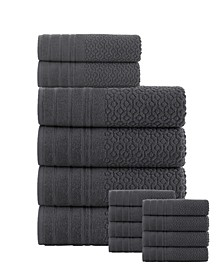 Folles Turkish Cotton 14 Pieces Towel Set