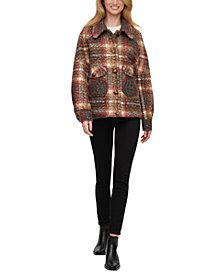 Calvin Klein Plaid Shirt-Jacket Coat