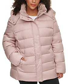 Plus Size Hooded Puffer Coat, Created for Macy's