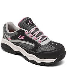 Women's Biscoe Steel Toe Slip-Resistant Work Sneakers from Finish Line