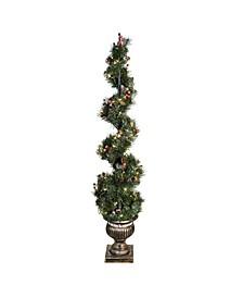 "48"" Pre-Lit Spiral Artificial Christmas Tree"