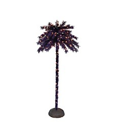 "6"" Pre-Lit Palm Tree"